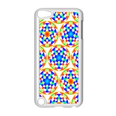 Background Colour Circle Rainbow Apple Ipod Touch 5 Case (white) by AnjaniArt