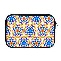 Background Colour Circle Rainbow Apple Macbook Pro 17  Zipper Case by AnjaniArt