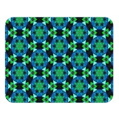 Background Star Colour Green Blue Double Sided Flano Blanket (large)  by AnjaniArt