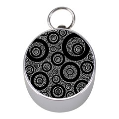Selected Figures From The Paper Circle Black Hole Mini Silver Compasses by AnjaniArt