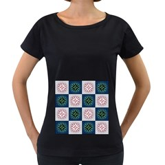 Background Colour Flower Box Women s Loose Fit T Shirt (black) by AnjaniArt