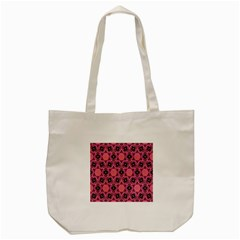 Background Colour Star Pink Flower Tote Bag (cream) by AnjaniArt