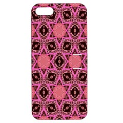 Background Colour Star Pink Flower Apple Iphone 5 Hardshell Case With Stand by AnjaniArt