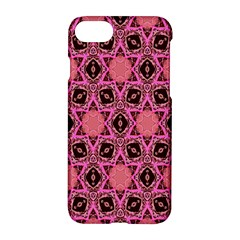 Background Colour Star Pink Flower Apple Iphone 7 Hardshell Case by AnjaniArt