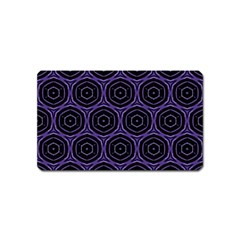 Background Colour Purple Circle Magnet (name Card) by AnjaniArt