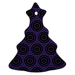 Background Colour Purple Circle Ornament (christmas Tree)  by AnjaniArt