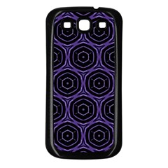 Background Colour Purple Circle Samsung Galaxy S3 Back Case (black) by AnjaniArt