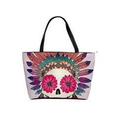 Tribal Hipster Colorful Skull Shoulder Handbags by Brittlevirginclothing
