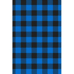 Black Blue Check Woven Fabric 5 5  X 8 5  Notebooks by AnjaniArt