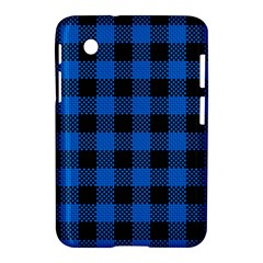 Black Blue Check Woven Fabric Samsung Galaxy Tab 2 (7 ) P3100 Hardshell Case  by AnjaniArt