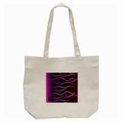 Bright Purple Flag Tote Bag (cream) by AnjaniArt