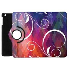 Brushes Chevron Apple Ipad Mini Flip 360 Case by AnjaniArt
