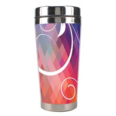 Brushes Chevron Stainless Steel Travel Tumblers by AnjaniArt
