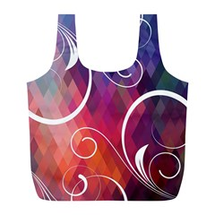 Brushes Chevron Full Print Recycle Bags (l)  by AnjaniArt