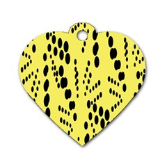 Circular Dot Selections Circle Yellow Dog Tag Heart (one Side) by AnjaniArt