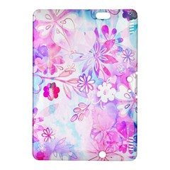 Watercolor Fairy Flowers Kindle Fire Hdx 8 9  Hardshell Case by KirstenStar