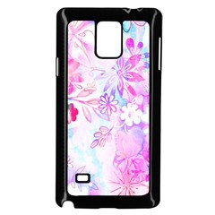 Watercolor Fairy Flowers Samsung Galaxy Note 4 Case (black) by KirstenStar