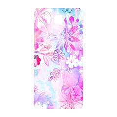 Watercolor Fairy Flowers Samsung Galaxy Alpha Hardshell Back Case by KirstenStar
