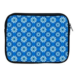 Blue Flower Clipart Floral Background Apple Ipad 2/3/4 Zipper Cases by AnjaniArt