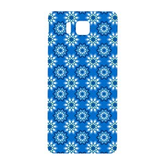 Blue Flower Clipart Floral Background Samsung Galaxy Alpha Hardshell Back Case by AnjaniArt