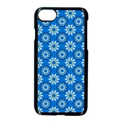 Blue Flower Clipart Floral Background Apple Iphone 7 Seamless Case (black)
