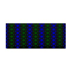 Diamond Alt Blue Green Woven Fabric Cosmetic Storage Cases by AnjaniArt