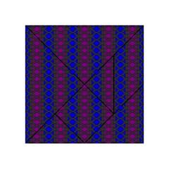 Diamond Alt Blue Purple Woven Fabric Acrylic Tangram Puzzle (4  X 4 ) by AnjaniArt