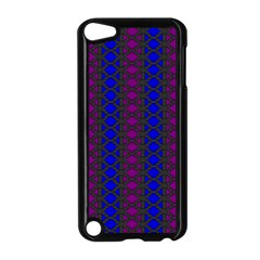 Diamond Alt Blue Purple Woven Fabric Apple Ipod Touch 5 Case (black) by AnjaniArt