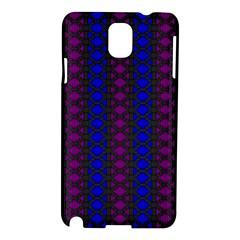 Diamond Alt Blue Purple Woven Fabric Samsung Galaxy Note 3 N9005 Hardshell Case by AnjaniArt