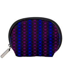 Diamond Alt Blue Purple Woven Fabric Accessory Pouches (small)  by AnjaniArt