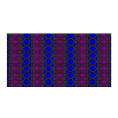 Diamond Alt Blue Purple Woven Fabric Satin Wrap by AnjaniArt