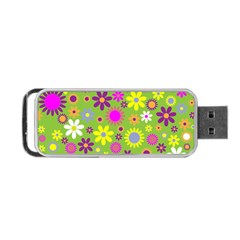 Colorful Floral Flower Portable USB Flash (Two Sides) by AnjaniArt