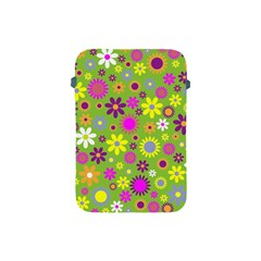 Colorful Floral Flower Apple Ipad Mini Protective Soft Cases by AnjaniArt