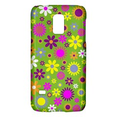 Colorful Floral Flower Galaxy S5 Mini by AnjaniArt