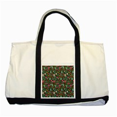 Floral Flower Flowering Rose Two Tone Tote Bag by AnjaniArt
