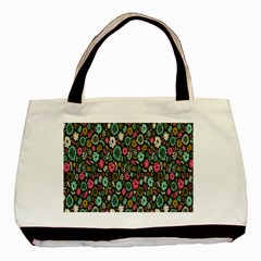 Floral Flower Flowering Rose Basic Tote Bag (two Sides) by AnjaniArt