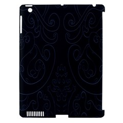 Flower Floral Blue Black Apple Ipad 3/4 Hardshell Case (compatible With Smart Cover) by AnjaniArt