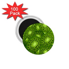Fruit Kiwi Green 1 75  Magnets (100 Pack)  by AnjaniArt