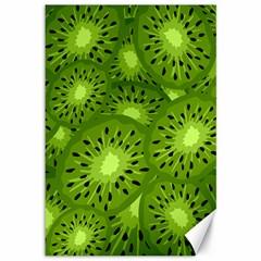 Fruit Kiwi Green Canvas 12  X 18   by AnjaniArt