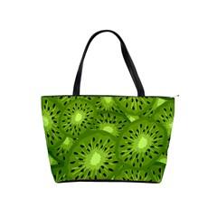 Fruit Kiwi Green Shoulder Handbags by AnjaniArt
