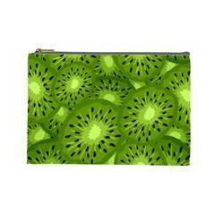 Fruit Kiwi Green Cosmetic Bag (large)  by AnjaniArt