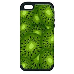 Fruit Kiwi Green Apple Iphone 5 Hardshell Case (pc+silicone) by AnjaniArt