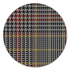 Glen Woven Fabric Magnet 5  (round) by AnjaniArt