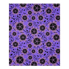 Flower Floral Purple Leaf Background Shower Curtain 60  X 72  (medium)  by AnjaniArt
