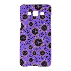 Flower Floral Purple Leaf Background Samsung Galaxy A5 Hardshell Case  by AnjaniArt