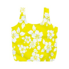 Hawaiian Flowers Full Print Recycle Bags (m)  by AnjaniArt