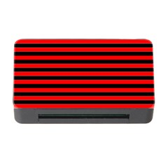 Horizontal Stripes Red Black Memory Card Reader With Cf by AnjaniArt