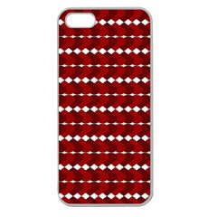Heart Love Pink Red Wave Chevron Valentine Day Apple Seamless Iphone 5 Case (clear) by AnjaniArt