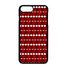 Heart Love Pink Red Wave Chevron Valentine Day Apple iPhone 7 Plus Seamless Case (Black) by AnjaniArt