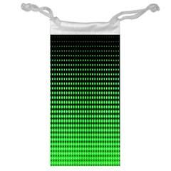 Neon Green Jewelry Bag by AnjaniArt